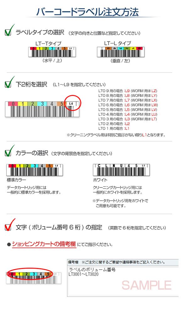 バーコードラベル注文方法について
